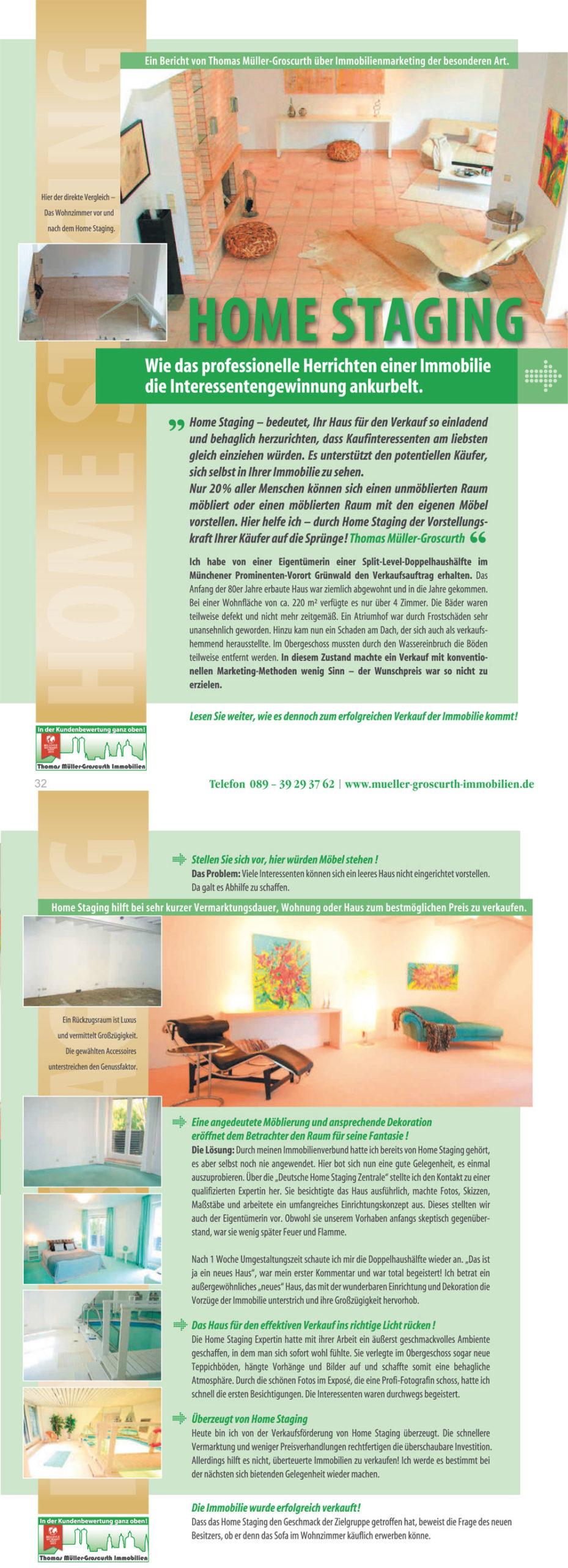 Makler München Home Staging